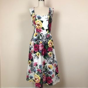 Anthropologie Floral Midi Amelia Dress NWT